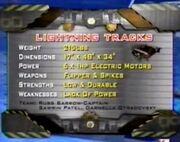 Lightning Tracks Stats