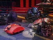 Roadblock killertron house robots