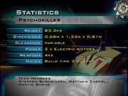Psychokiller stats