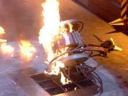 Wheelosaurus on fire