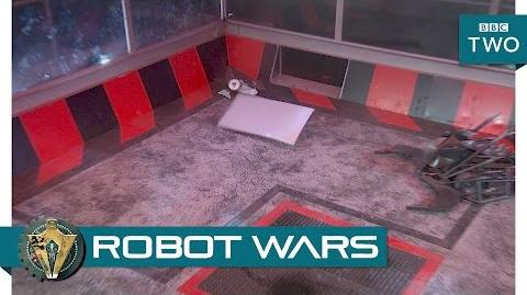 The robots damage the arena - Robot Wars 2017 Episode 2 - BBC Two
