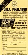 American Robot Wars Final 1996 VHS club order form
