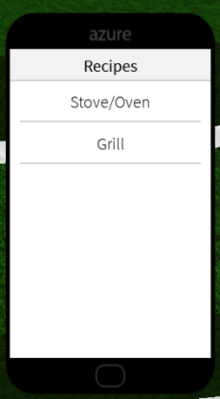 Recipes App Interior