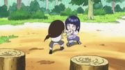 Neji s'entraîne avec Hinata