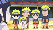 Lee et les autres déguisés en Naruto Anime