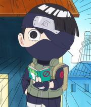 Lee déguisé en Kakashi (Anime)