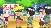 Naruto saluant Lee