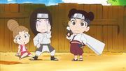Première apparition de Neji et Tenten