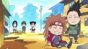 Équipe Gaï regardent Shikamaru et Chôji