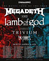 Megadeth Affiche 2020