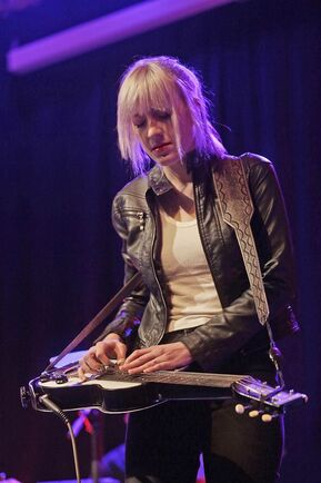 The female musician Megan Lovell