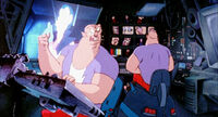 The Schlepper Brothers in control room