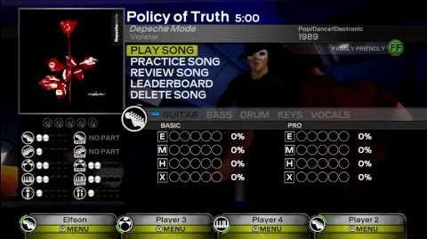 Policy of Truth - Depeche Mode Expert (All Instruments) Rock Band 3 DLC
