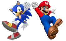Super mario and sonic the hedgehog by banjo2015-d9r77hm