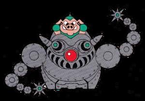 Repulsive Raccoon Robot (Rocket Knight Adventures Official Artwork)