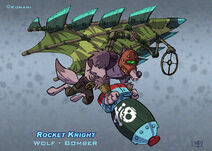 Rocket Knight (2010) Official Artwork - Wolf Bomber by Peter Lumby