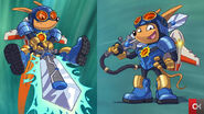 Alternate Official Artworks of Sparkster (Rocket Knight 2010)
