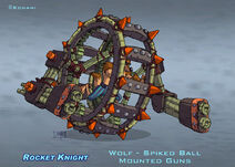 Rocket Knight (2010) Official Artwork - Spiked Ball with Mounted Guns by Peter Lumby