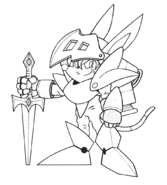 Axle Gear (Sparkster- Rocket Knight Adventures 2 Europe Manual Line Artwork)