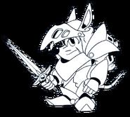 Axle Gear (Rocket Knight Adventures Europe Manual Line Artwork)