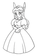 Princess Sherry (Sparkster- Rocket Knight Adventures 2 Europe Manual Line Artwork)