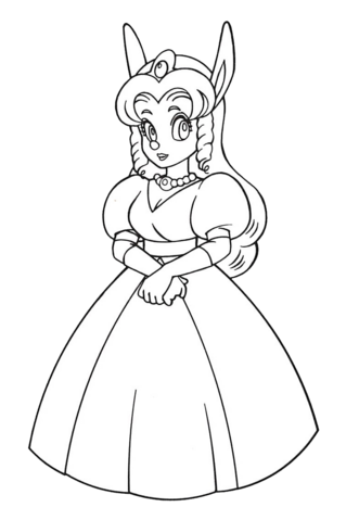 File:Princess Sherry (Sparkster- Rocket Knight Adventures 2 Europe Manual Line Artwork).png