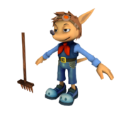Sparkster (Farmer) Rocket Knight Model