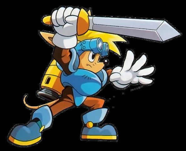 File:Sparkster (Sparkster- Rocket Knight Adventures 2 Official Artwork 4).png