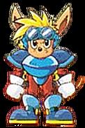 Sparkster (Sparkster SNES Sparkster Facing Front Official Artwork)