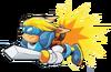 Sparkster (Sparkster- Rocket Knight Adventures 2 Sparkster Flying Artwork)
