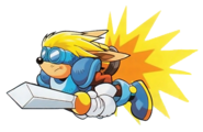 Sparkster (Sparkster- Rocket Knight Adventures 2 Sparkster Flying Artwork)