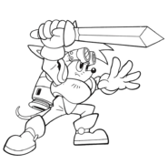 Sparkster (Sparkster- Rocket Knight Adventures 2 Europe Manual Line Artwork)
