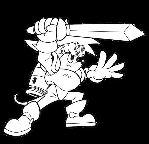 File:Sparkster (Sparkster- Rocket Knight Adventures 2 Europe Manual Line Artwork).png