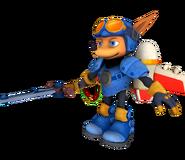 Sparkster Rocket Knight Model