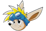 Sparkster (Sparkster- Rocket Knight Adventures 2 Sparkster Head Artwork)