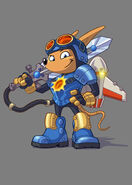 Sparkster (Rocket Knight 2010 Official Artwork)