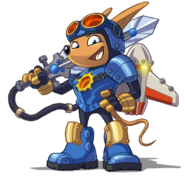 Sparkster (Rocket Knight 2010 Official Artwork 2)