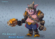 Pig Soldier by Peter Lumby