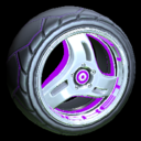 Triplex wheel icon purple