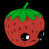 Sad Strawberry topper icon