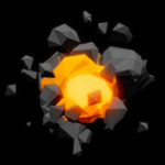 Polygonal rocket boost icon