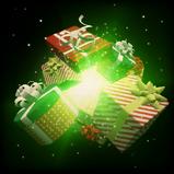 Happy Holidays goal explosion icon