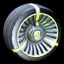 Turbine wheel icon saffron