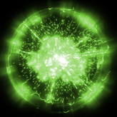 Standard Green goal explosion icon