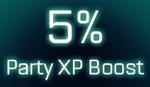 5% Party XP boost icon