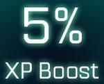 5% XP boost icon