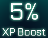 5% XP boost icon