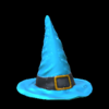 Witchs hat topper icon sky blue