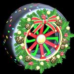 Christmas Wreath wheel icon