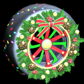 Christmas Wreath wheel icon